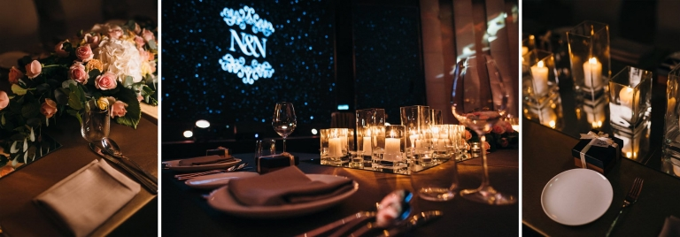 EQ Hotel wedding dinner
